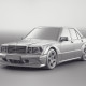 Mercedes W201 AMG Evolution 2 - clay renders
