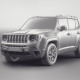 Jeep Renegade 2015 - clay render